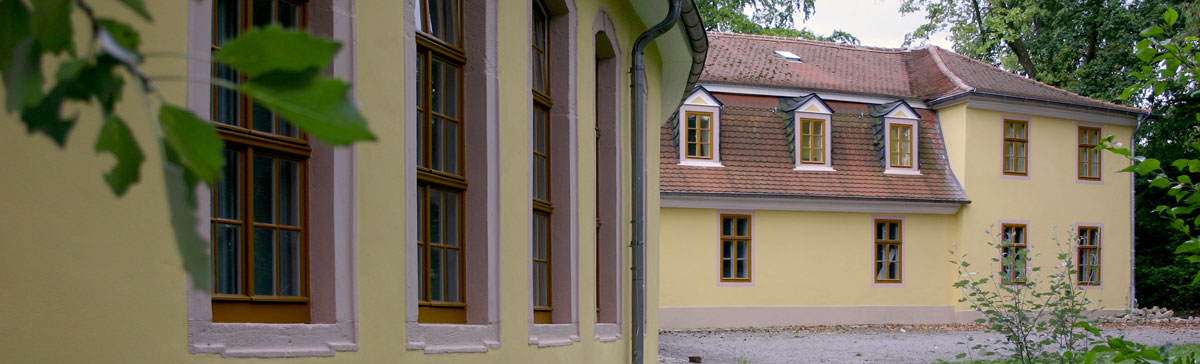 Mozart House with the gym (left)